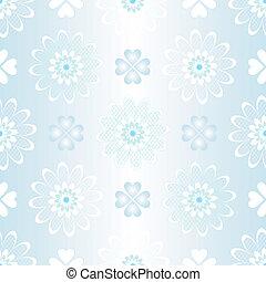 Blue elegant floral seamless pattern (vector)
