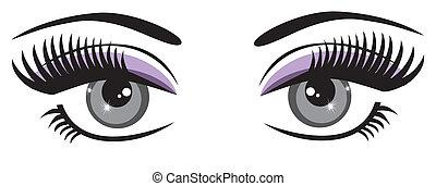 vector beautiful blue eyes