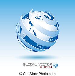 blue global vector background
