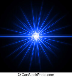 abstract lens flare light over blue background