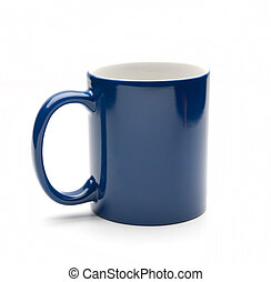 blue mug isolated on a white background