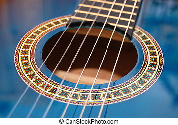 blue music guitar for playing party music