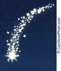 blue shooting star