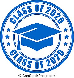 Blue sign class of 2020 year