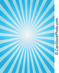 Simple background of blue sunray