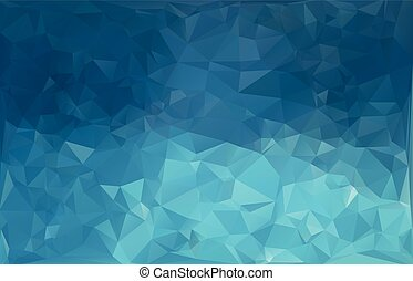 Blue White Polygonal Mosaic Background, Creative Business Design Templates