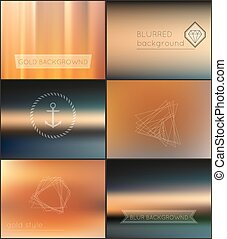Blur Gold Backgrounds