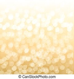 Blurred Gold Background With Gradient Mesh, Vector Illustration