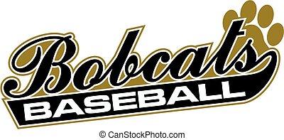 bobcats baseball team design in script for school, college or league