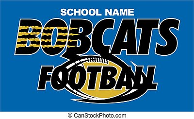 bobcats football team design with ball and claw marks for school, college or league