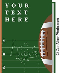 Vector cover of the book on the topic of fooball, can be implemented by a summary, playbook, etc.