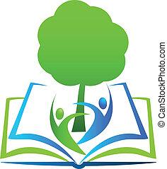 Book tree students logo
