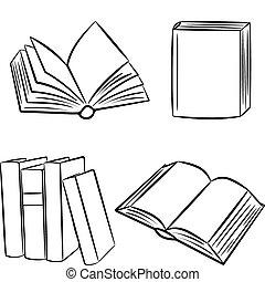 Books. Vector illustration.