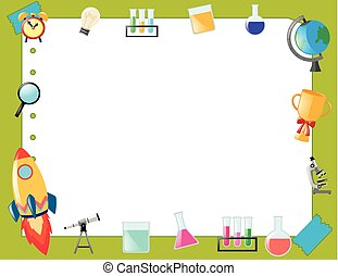 Border template with school items