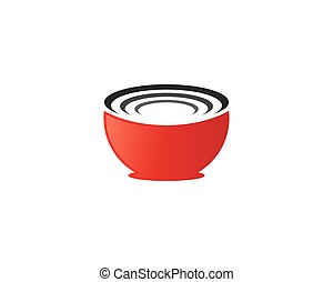 Bowl vector icon illustration