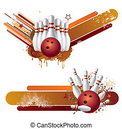 vector illustration of bowling strike