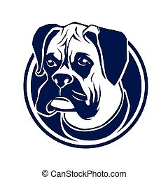 boxer head blue