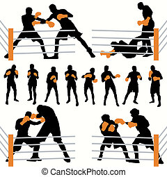Boxers Silhouettes Set