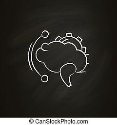 Brainstorming chalk icon