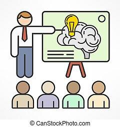 Brainstorming. Vector illustration.