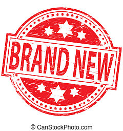 """Rubber stamp illustration showing """"BRAND NEW"""" text"""