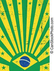 Brazil vintage background