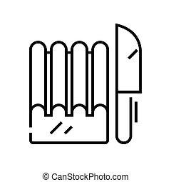 Bread knife line icon, concept sign, outline vector illustration, linear symbol.