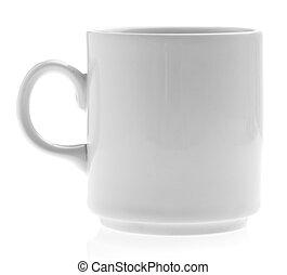 breakfast mug isolated on a white background