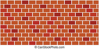 brick wall illustration - vector