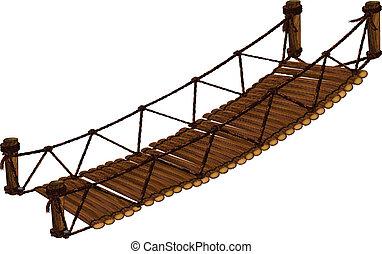 Illustration of a close up bridge