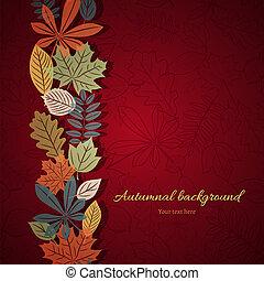 Bright autumn vector background
