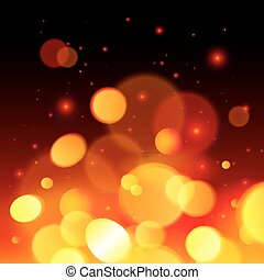 Bright bokeh effect fire vector abstract background