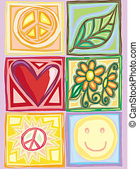 Bright Peace and Love Boxes