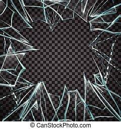 Broken Glass Frame. Broken Glass Transparent. Glass Transparent Frame. Broken Glass Illustration. Glass Realistic Illustration. Broken Glass Design. Glass Vector Illustration.