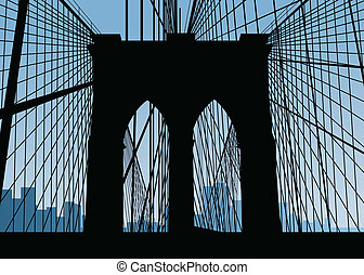 Brooklyn Bridge Silhouette