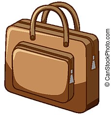 Brown bag on white background