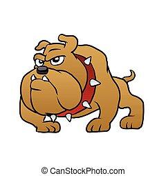 brown bulldog vector illustration