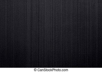Closeup of brushed black aluminum as a background motive