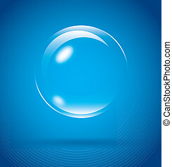 bubble design over blue background. vector illustration