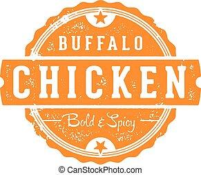 Buffalo Chicken Restaurant Stamp