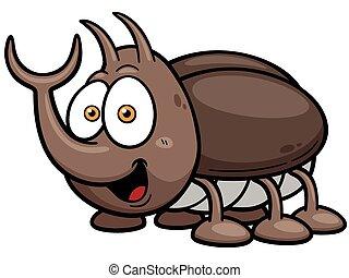 Vector illustration of cartoon bug