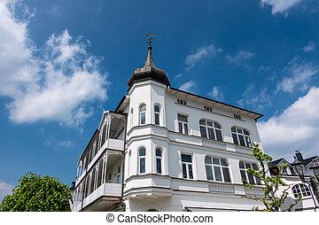 Building in Binz on the island Ruegen, Germany