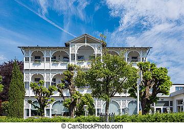 Building in Goehren on the island Ruegen, Germany