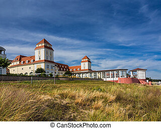 Buildings in Binz on the island Ruegen (Germany).