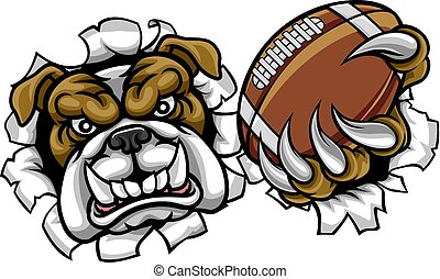 Bulldog American Football Sports Mascot