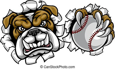 Bulldog Baseball Sports Mascot