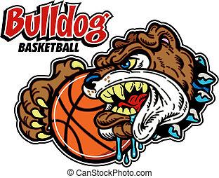 bulldog basketball design
