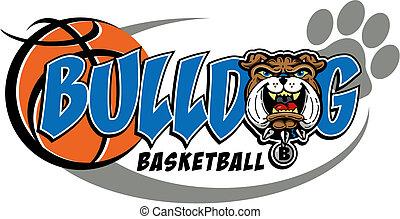 bulldog basketball mascot design