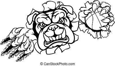 Bulldog Basketball Sports Mascot