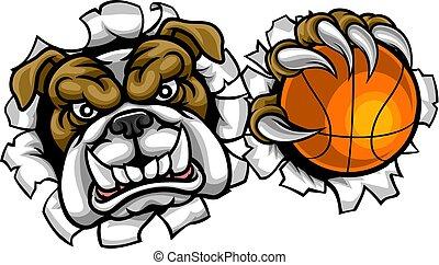 Bulldog Basketball Sports Mascot